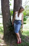 Jean Skirts at Deb's