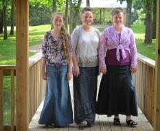 Jean Skirts at Deb's Fashions