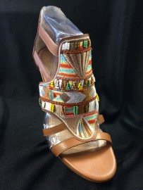 Awesome beaded moccasin sandals at Deb's