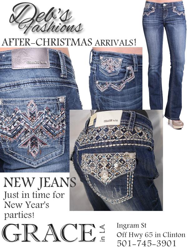 Grace in LA Jeans at Deb's Fashions in Clinton AR
